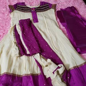 Indian dress wedding party dress pink anarkli